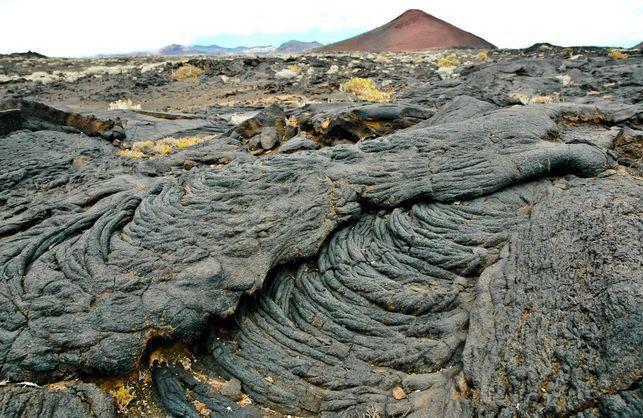 Coladas de lava en La Restinga