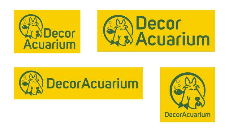 Versiones del logo de Decoracuarium