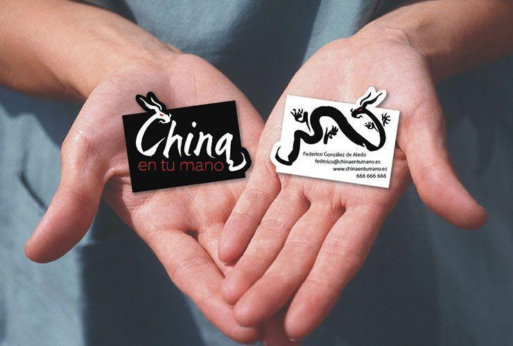 Tarjetas con el logo de China En Tu Mano