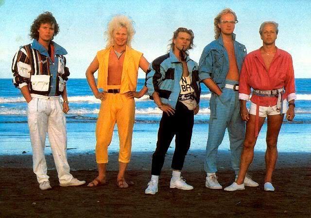 Moda masculina de los años 80